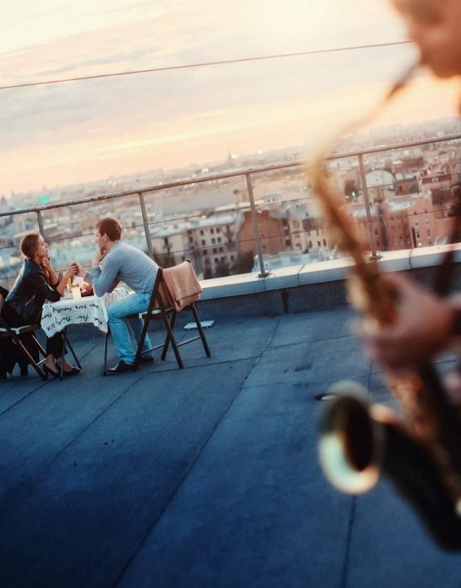 Свидание на крыше в Санкт Петербурге